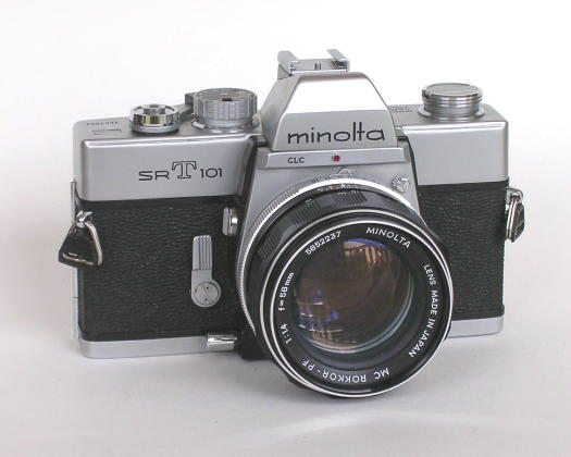 This mint Minolta SRT-101 was given to me by a coworker; it belonged to his